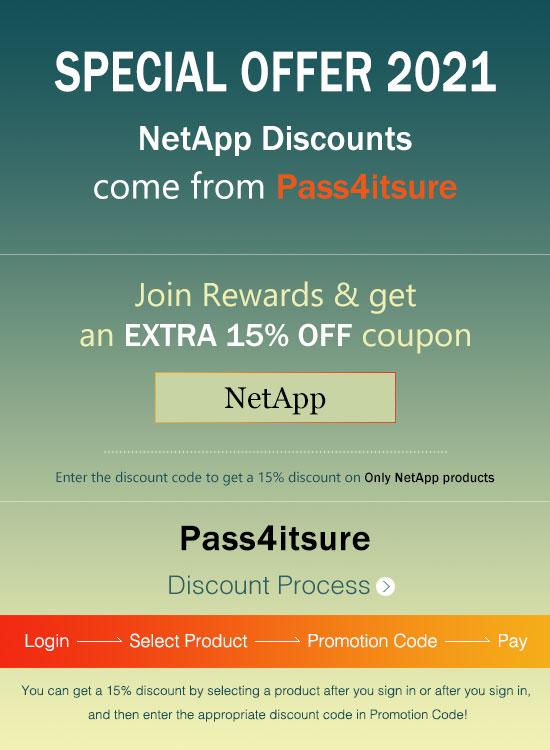 Pass4itsure NetApp NS0-002 exam discount code 2021